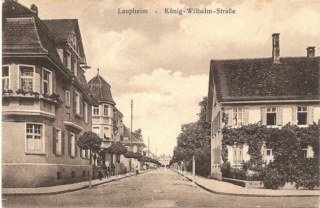 Laupheim - König-Wilhelm-Straße (Vorderseite der Ansichtskarte)