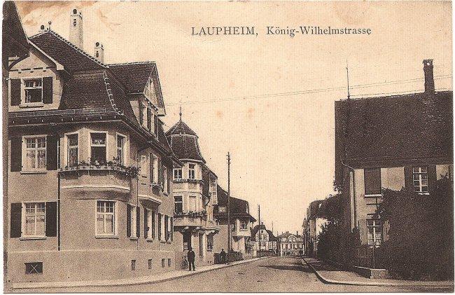 Laupheim, König-Wilhelmstraße (Vorderseite der Ansichtskarte)