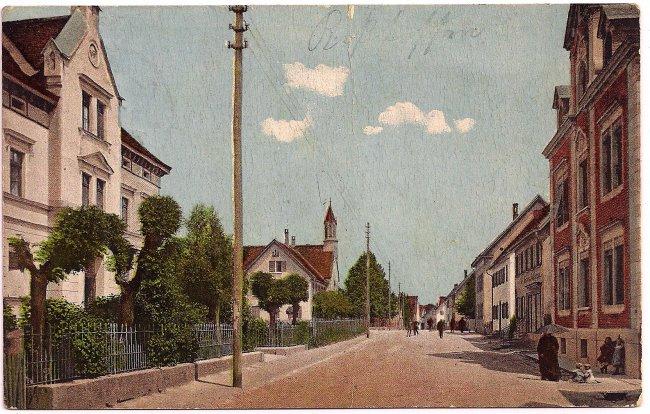 Radstraße (Vorderseite der Ansichtskarte)