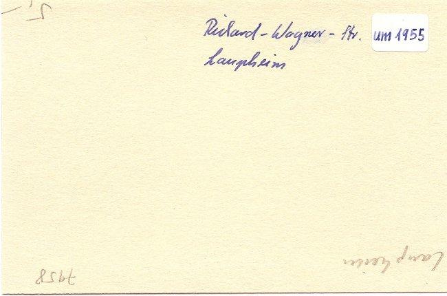 Richard-Wagner-Straße (Rückseite der Ansichtskarte)