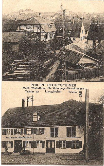 Philipp Rechtsteiner, Mech. Werkstätten (Vorderseite der Ansichtskarte)