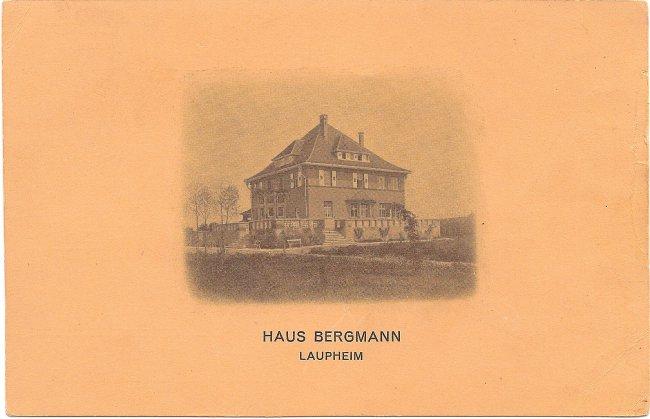 Haus Bergmann, Laupheim (Vorderseite der Ansichtskarte)