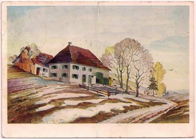 Haus des Laupheimer Scharfrichters (Vorderseite der Ansichtskarte)