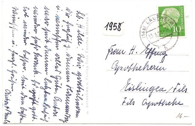 Haus Schmucker (Rückseite der Ansichtskarte)