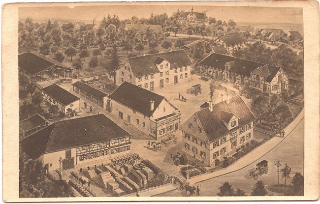 Bauunternehmen Josef Rupf (Vorderseite der Ansichtskarte)