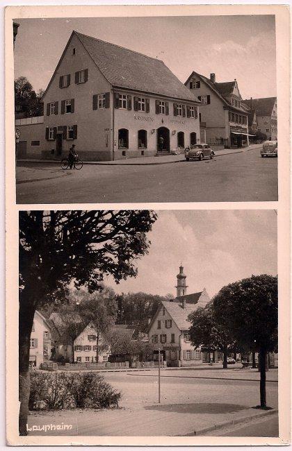 Kronen-Apotheke (Vorderseite der Ansichtskarte)