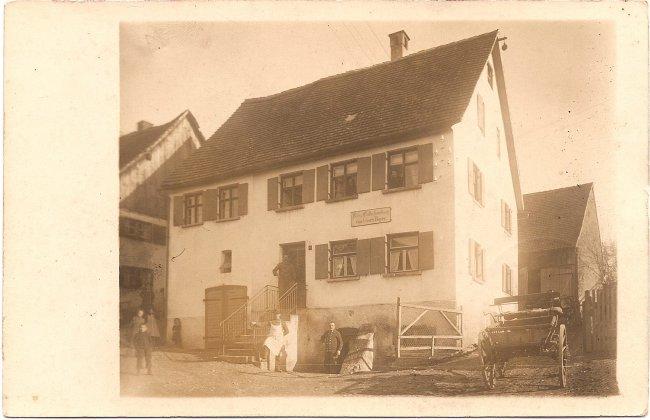Käse- und Butterhandlung von Georg Bayer (Vorderseite der Ansichtskarte)