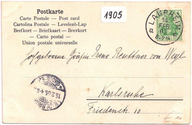 Laupheim Heiliggrabkapelle (Rückseite der Ansichtskarte)
