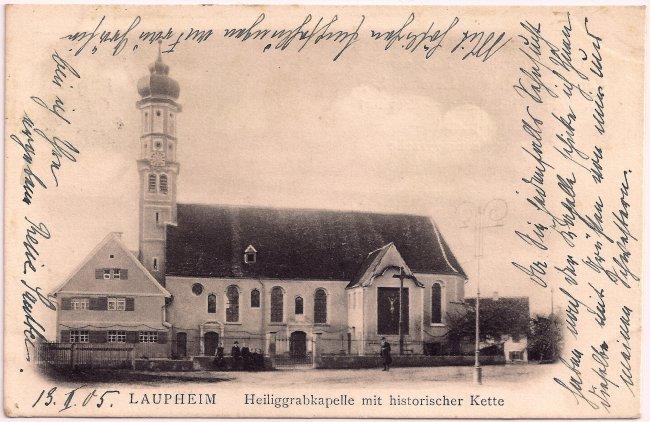Laupheim Heiliggrabkapelle (Vorderseite der Ansichtskarte)