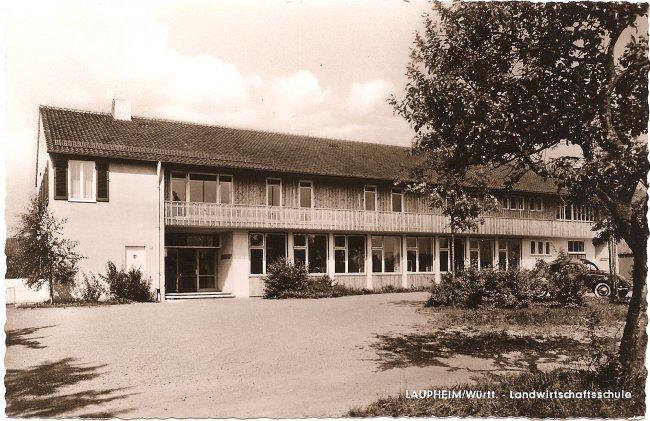 Laupheim/Württ. - Landwirtschaftsschule (Vorderseite der Ansichtskarte)