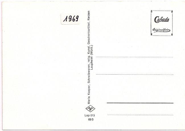 Laupheim (Württ.), Wieland-Schule (Rückseite der Ansichtskarte)