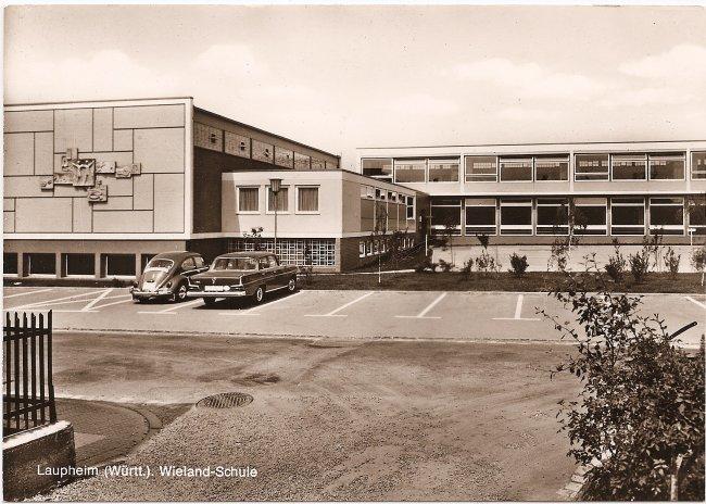 Laupheim (Württ.), Wieland-Schule (Vorderseite der Ansichtskarte)