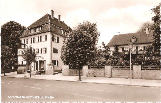 7-Schwabenapotheke, Laupheim (Vorderseite der Ansichtskarte)