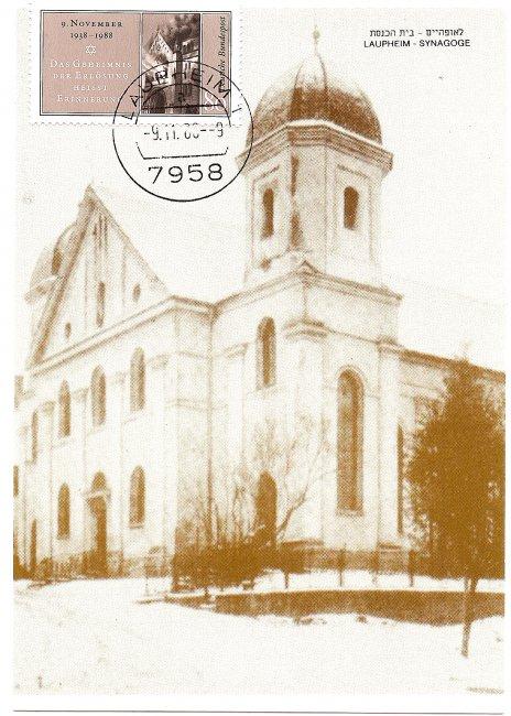 Laupheimer Synagoge (Vorderseite der Ansichtskarte)