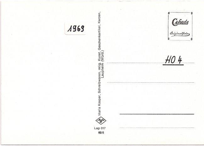 Laupheim (Württ.), Heilig-Geist-Spital (Rückseite der Ansichtskarte)