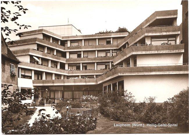 Laupheim (Württ.), Heilig-Geist-Spital (Vorderseite der Ansichtskarte)