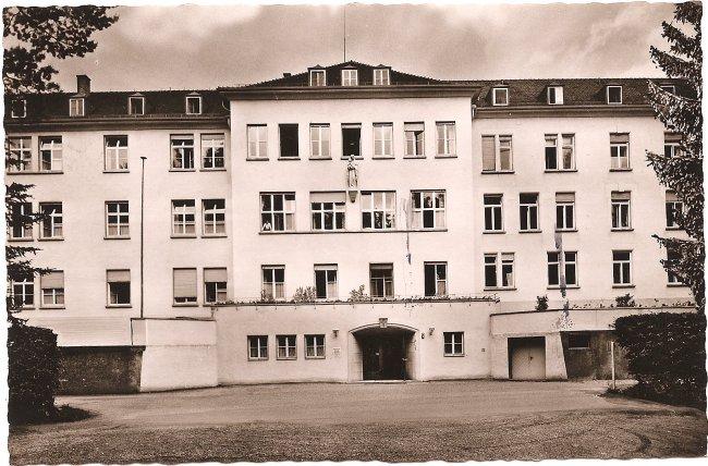 Laupheim (Württ.) - Kreiskrankenhaus (Vorderseite der Ansichtskarte)