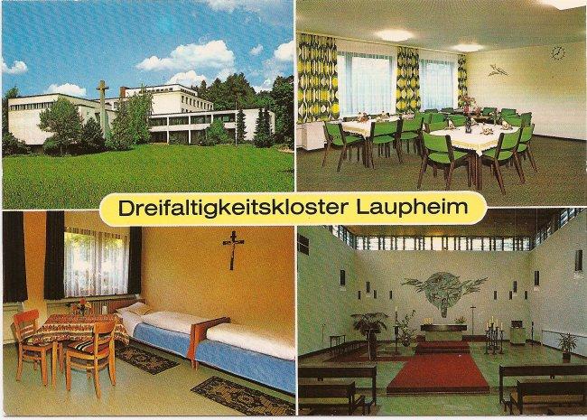 Dreifaltigkeitskloster Laupheim (Vorderseite der Ansichtskarte)