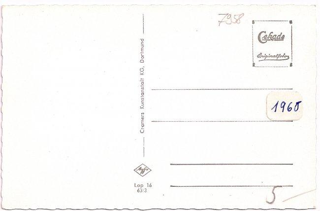 Laupheim (Württ.), Hirschgehege (Rückseite der Ansichtskarte)