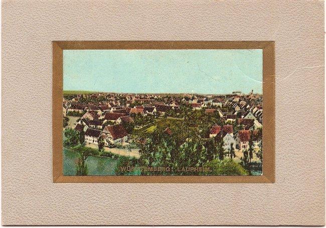 Württemberg: Laupheim (Vorderseite der Ansichtskarte)