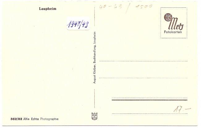 Teilansicht (Rückseite der Ansichtskarte)