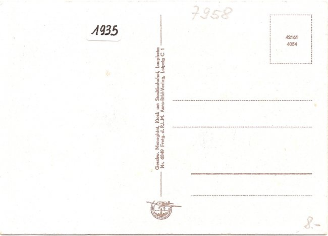 Laupheim Wttbg. Orig. Fliegeraufnahme (Rückseite der Ansichtskarte)
