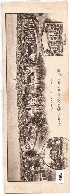 Panorama von Laupheim (Vorderseite der Ansichtskarte)