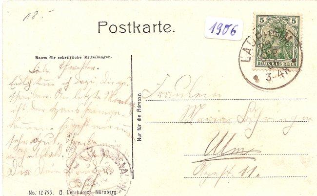 Laupheim (Rückseite der Ansichtskarte)
