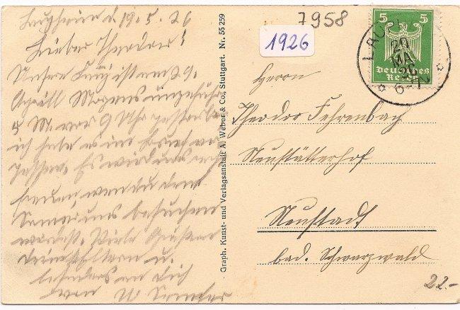 Mehrbildpostkarte (Rückseite der Ansichtskarte)