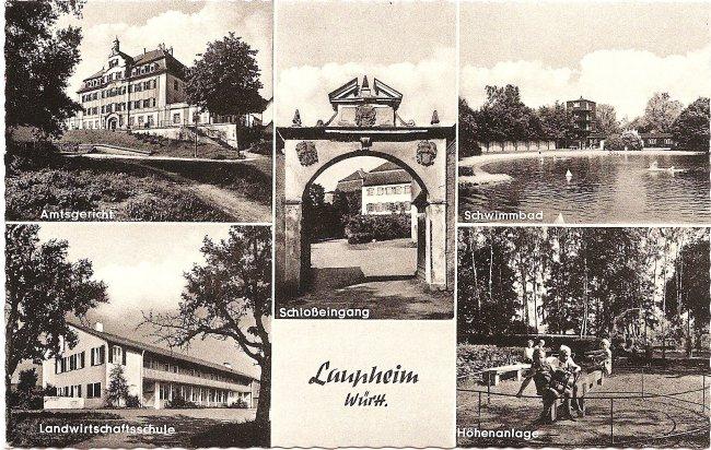 Laupheim Württ. (Vorderseite der Ansichtskarte)