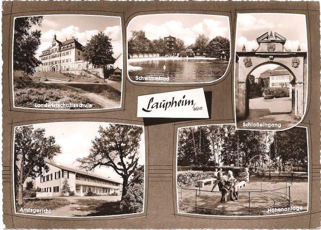 Laupheim/Württ. (Vorderseite der Ansichtskarte)