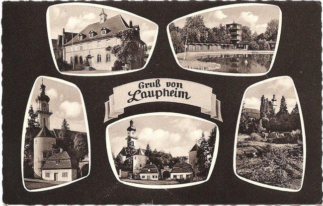 Gruß von Laupheim (Vorderseite der Ansichtskarte)