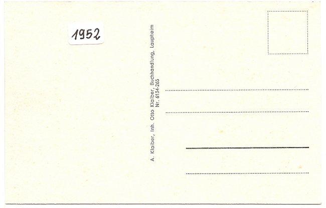 Laupheim/Würrt. (Rückseite der Ansichtskarte)