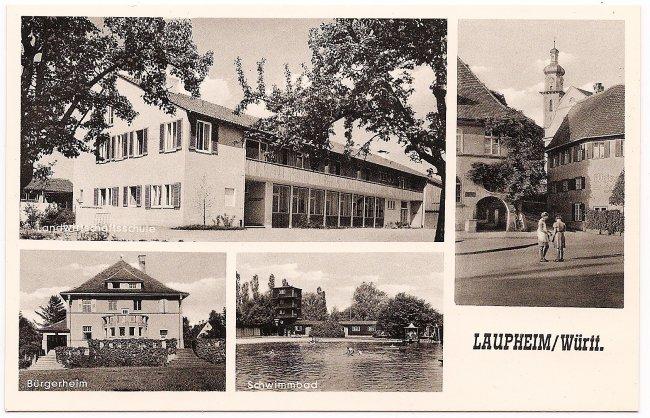 Laupheim/Würrt. (Vorderseite der Ansichtskarte)