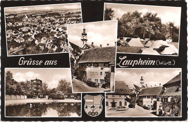 Grüsse aus Laupheim (Württ.) (Vorderseite der Ansichtskarte)