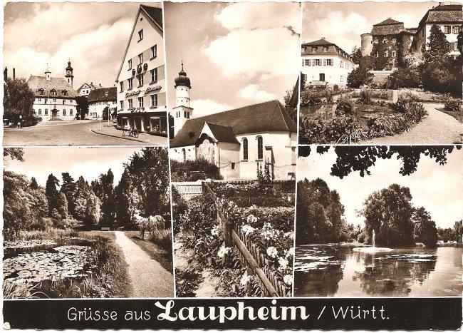 Grüsse aus Laupheim / Württ. (Vorderseite der Ansichtskarte)