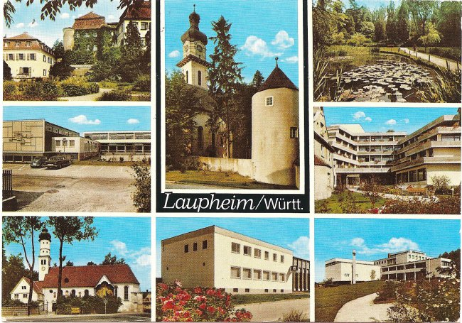 Laupheim/ Würrt. (Vorderseite der Ansichtskarte)