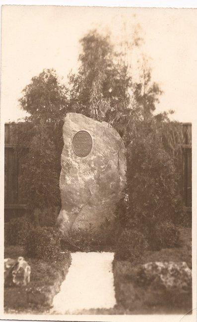 Olympia Laupheim, Gedenkstein (Vorderseite der Ansichtskarte)