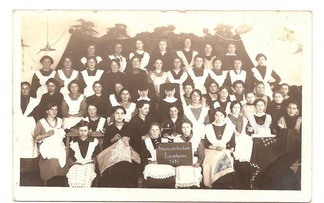 Frauenarbeitsschule Laupheim  (Vorderseite der Ansichtskarte)