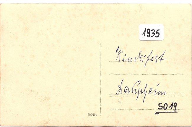 Heimatfest Laupheim (Rückseite der Ansichtskarte)