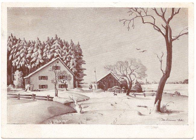Bastelwald (Vorderseite der Ansichtskarte)