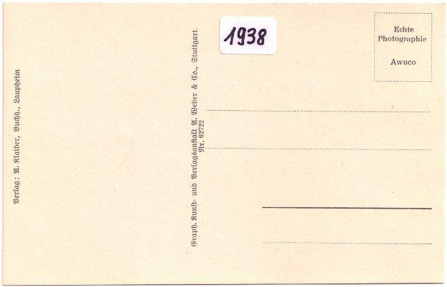 Laupheim - 7 Schwaben-Apotheke (Rückseite der Ansichtskarte)