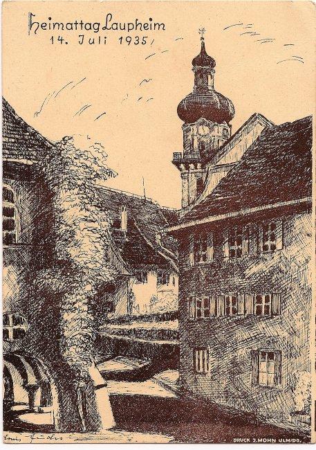 Heimattag Laupheim (Vorderseite der Ansichtskarte)