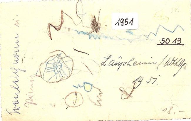 Fronleichnamsprozession  Laupheim (Rückseite der Ansichtskarte)