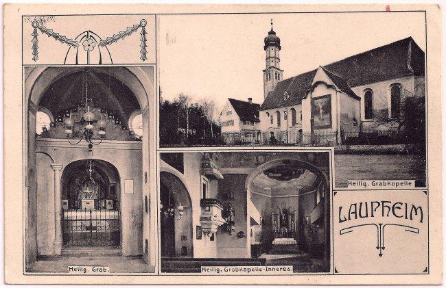 Heilig Grabkapelle Laupheim (Vorderseite der Ansichtskarte)