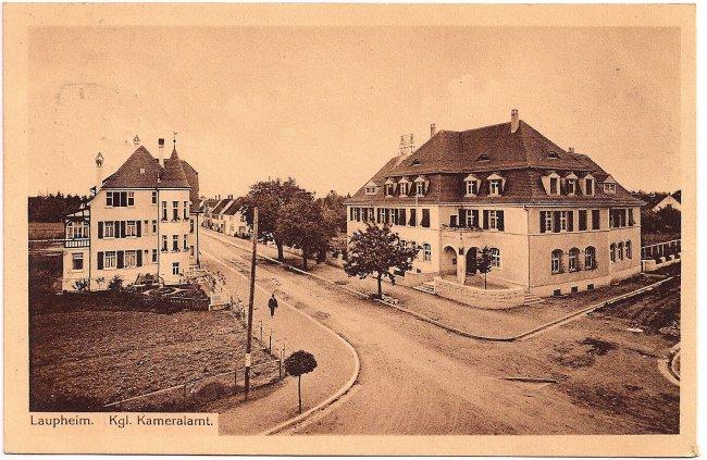 Laupheim Kgl. Kameralamt (Vorderseite der Ansichtskarte)