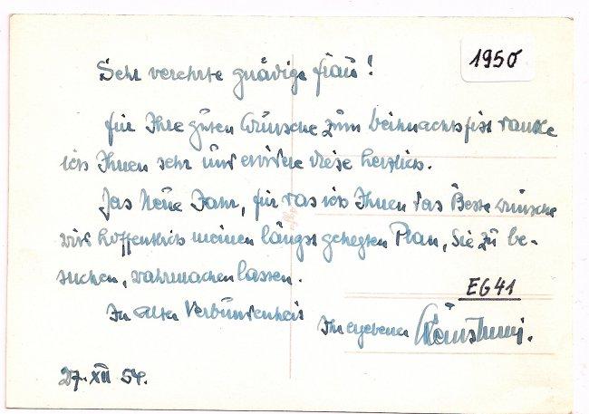 7 Schwaben- Apotheke (Rückseite der Ansichtskarte)