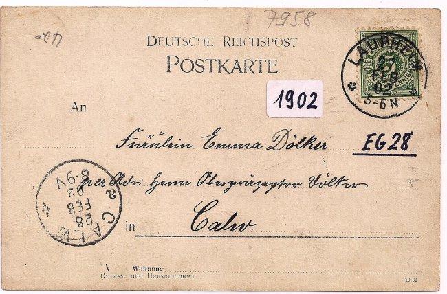 Apotheke von G. Müller (Rückseite der Ansichtskarte)