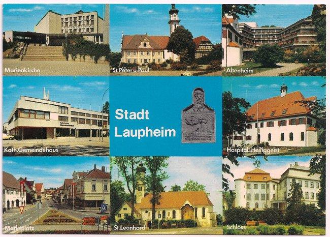 Stadt Laupheim (Vorderseite der Ansichtskarte)