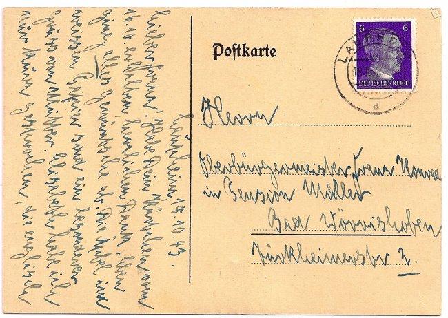 Heimattag Laupheim, 14. Juli 1935 (Rückseite der Ansichtskarte)